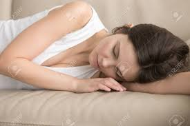 Image result for tired woman lying on sofa